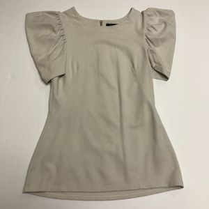 French Connection Tufted Puff Sleeve Blouse Shirt